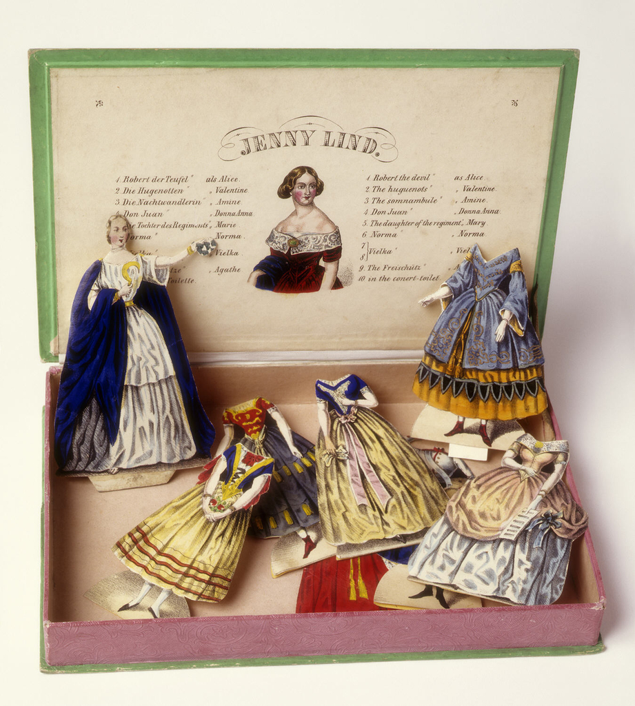 Paper Doll, Jenny Lind Paper Doll and Ten Costumes Designed for Her Operatic Roles; lithograph on heavy white wove paper; 1952-8-1-a.