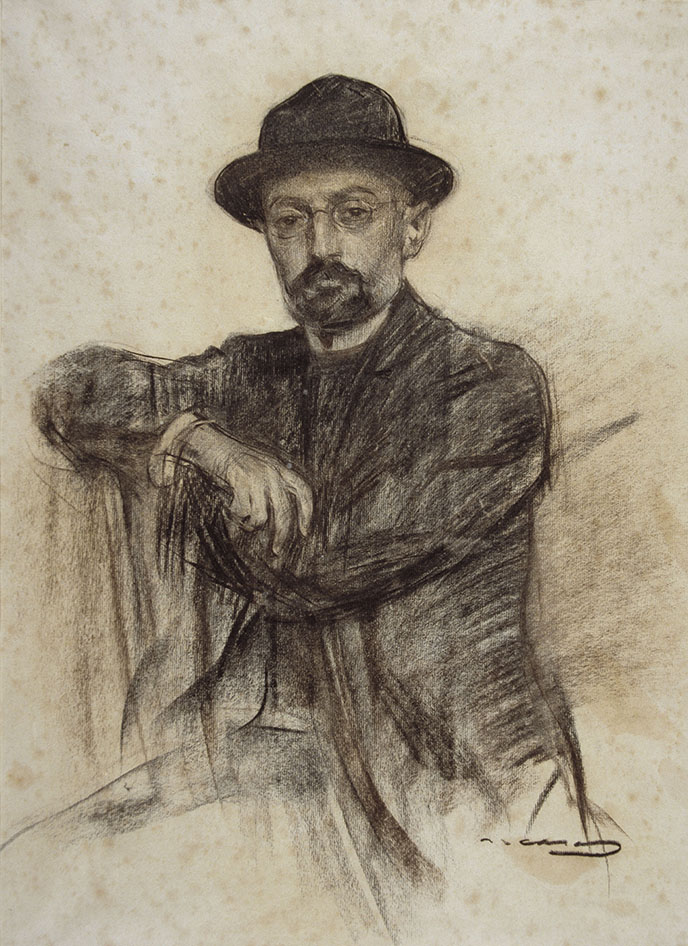 The Tragic Sense of Life - Unamuno, Portrait de Ramon Casas, (Museu Nacional d'Art de Catalunya), Source : Wikipedia